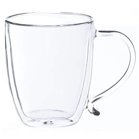 Coffee Glass grosche cyprus 16 oz walled glass coffee mug gr 179 the home depot