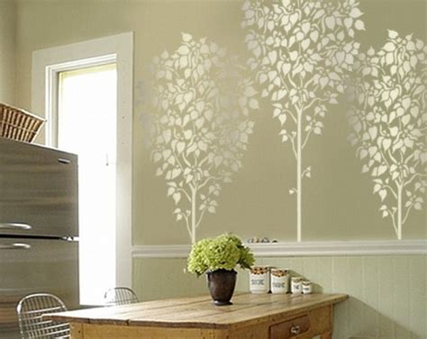 stencils for home decor linden tree 5 ft wall stencil reusable easy diy home