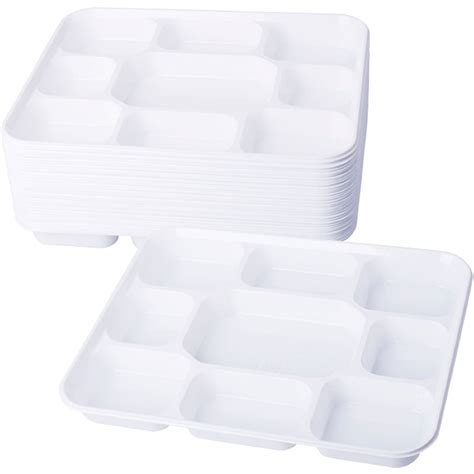 disposable plates with sections compartment plastic dinner plates 50 pcs party home food