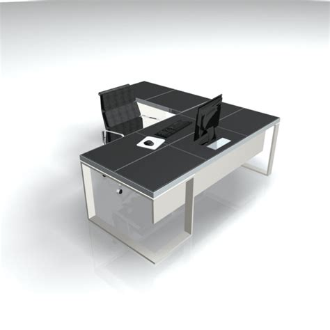 metal desk l black leather metal executive l shaped desk ambience dor 233