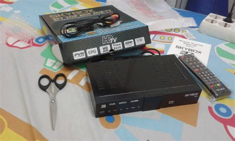Tv Digital Tvri mencoba set top box dvb t2 skybox rivaekaputra