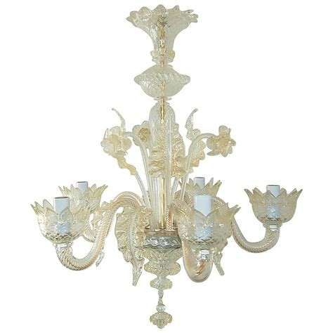 Vintage Murano Glass Chandelier Of Murano Crystal With Murano Chandeliers For Sale