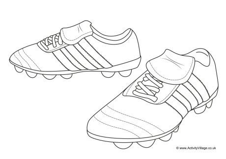 coloring pages football shoes football boots colouring page