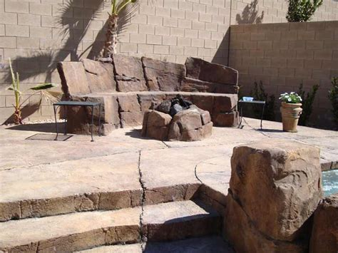 the rock benching fire features fire bowls fire pits and benches by arizona