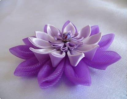 How To Make Handmade Flowers From Ribbon - fabric flowers ioma