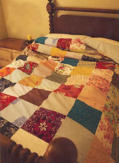 Patchwork Bed Cover - patchwork quilts bedlinen bedspreads