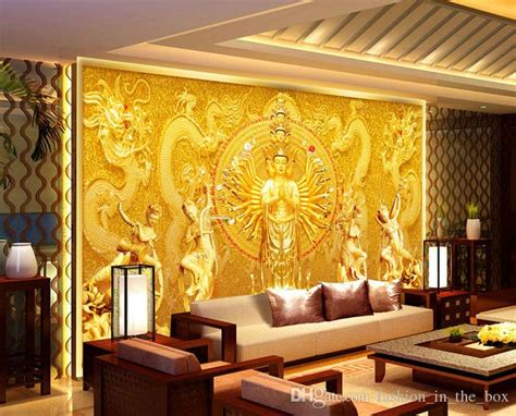 buddha wallpaper for bedroom gold buddha photo wallpaper custom 3d wall murals