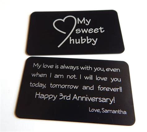 3rd wedding anniversary gift to my husband gift from to