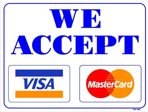 we accept cards sticker template welcome to unosms
