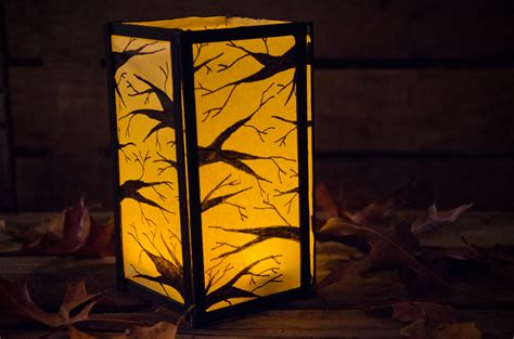How To Make Paper Lanterns For Candles - in the woods paper lantern funtober