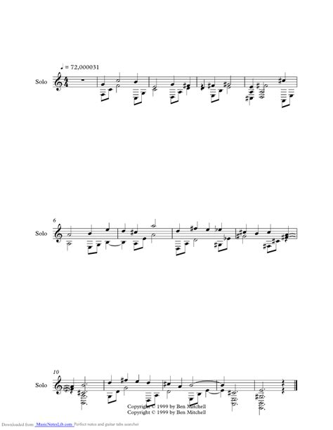 Untitled music sheet and notes by Crash Test Dummies