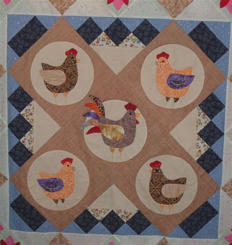 Chicken Quilt Patterns by With Needle And Thread I Will Travel Far Chicken Quilt
