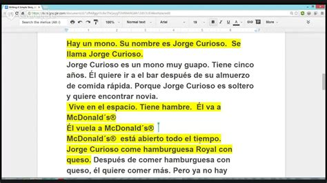 3 easy spanish short 1532821344 learn spanish with paulino writing a simple story beginners youtube