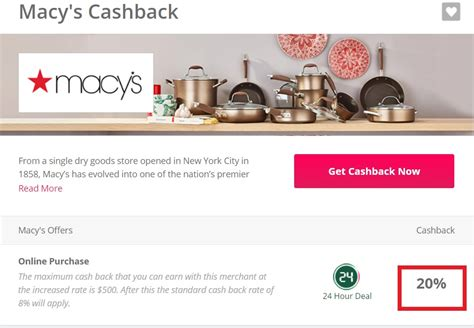 Macys Discount Gift Card - expired 20 back at macy s stack w coupon gift card cash back frequent miler