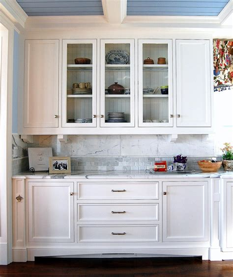 buffet hutch glass doors white cabinets kitchen buffet