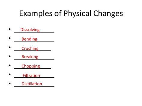 exle of physical change introduction to matter 8th grade science ppt