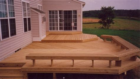 wood deck bench wooden deck with seating home indoors and out pinterest wooden decks decking