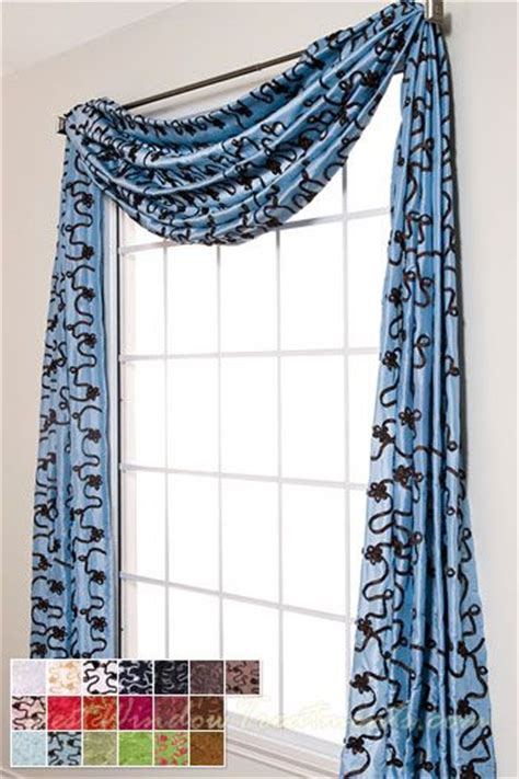 blue swag curtains 99 best images about scarf swag curtains top treatments