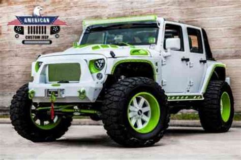 Jeep Wrangler Paint Jeep Wrangler Unlimited Lifted 4x4 42k Top 20s 2013