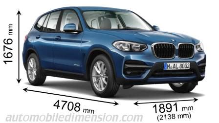 2018 bmw x3 height | go4carz.com