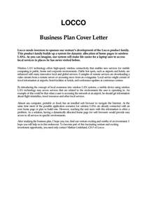 Business Plan Cover Letter Template by Business Plan Cover Letter Template Cover Letter Sle 2017