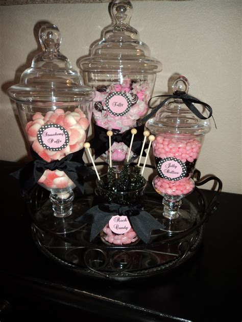 pink and black buffet strawberry puffs pink and black taffy and layered cotton