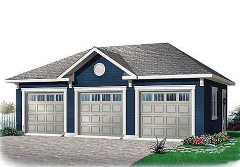 Free 3 Car Garage Plans | 3 car garage with free bonus 21690dr architectural