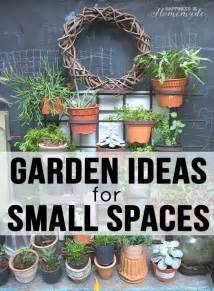 Gardening Ideas For Small Spaces 20 Garden Ideas For Small Spaces Happiness Is