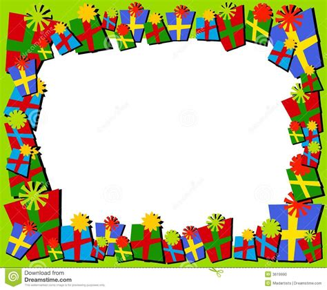 Clipart Border Of Gifts And by Cartoonish Gifts Border Or Frame Stock Photo
