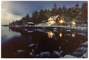lighted decor led lighted lake cabin canvas wall picture lodge