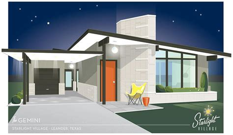 mid century modern house starlight village a brand new midcentury modern styled neighborhood in metro austin