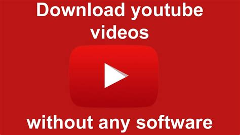 download youtube without software how to download youtube videos without software in mp4