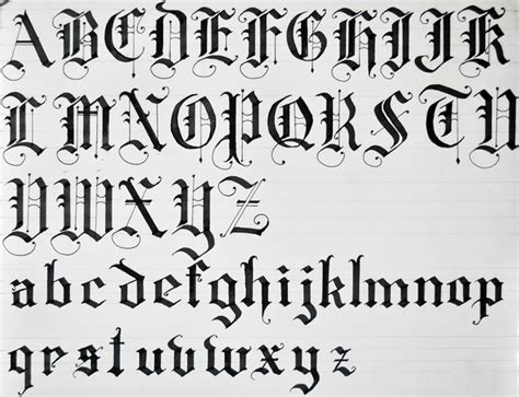 tattoo lettering lowercase old english calligraphy alphabet black letters using