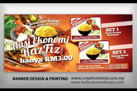 design banner nasi goreng creative mindflyers banner streamer design for food