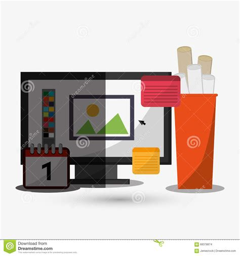 icon design office office icon design stock vector image 68378874