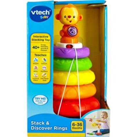 Vtech Stack N Discover Rings vtech all brands toys pty ltd