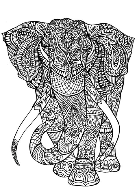 stress relief coloring pages elephant stress relief coloring pages elephant printable adult