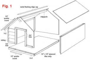 Simple wood dog house plans bluebird house plans free plans for