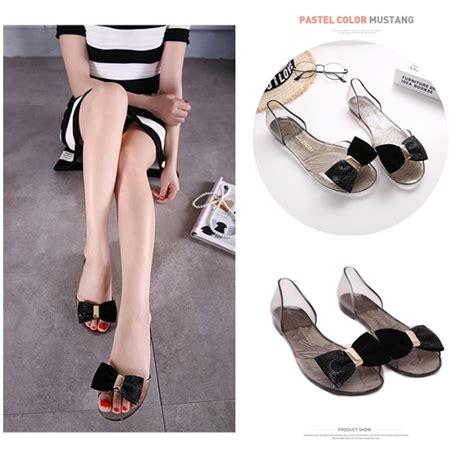 Sepatu Cantik Wanita Flat Shoes Garucci 127 Gak 6158 jual shs047 black sendal fashion cantik grosirimpor