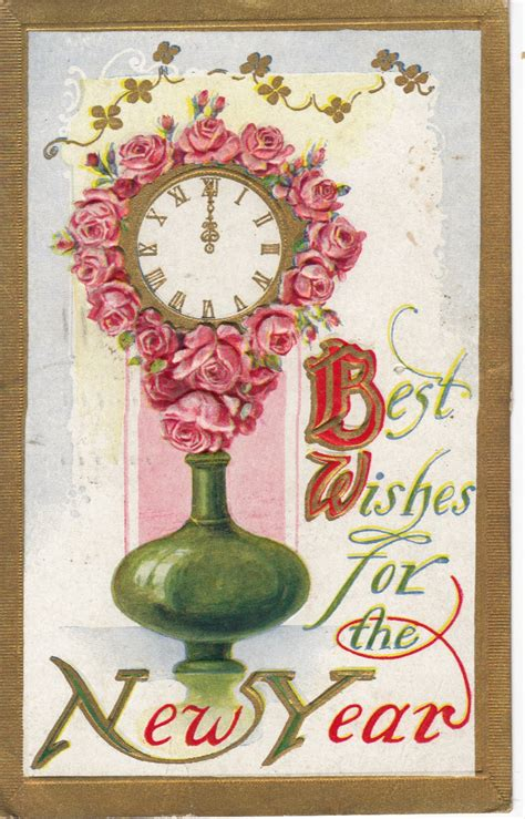 new year vintage greeting cards vintage new year greetings and postcards let s celebrate