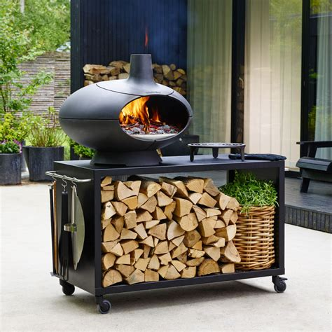 chiminea pizza oven attachment morso forno cast iron outdoor wood fired oven