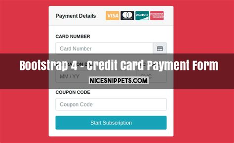 credit card css template bootstrap 4 credit card payment with stripe form design