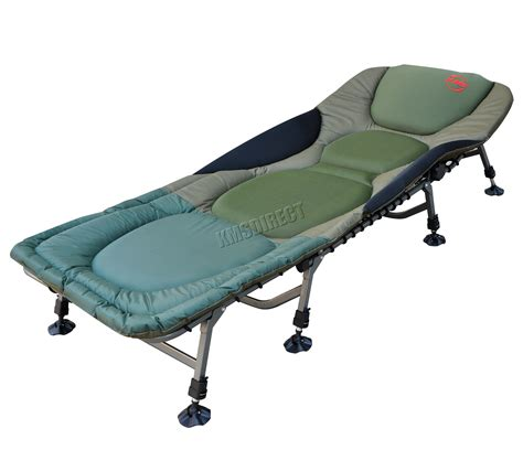 carp fishing bed chair bedchair cing heavy duty 8 adjustable legs fb 022 new ebay