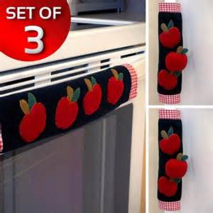 Kitchen Seat Covers Walmart Set Of 3 Kitchen Appliance Handle Covers W Apple Design