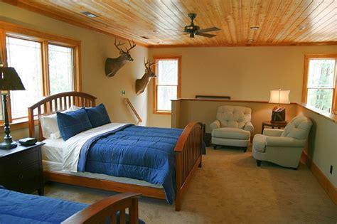 cabin bedroom decor hunting cabin