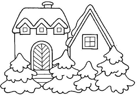 pictures of cartoon houses az coloring pages