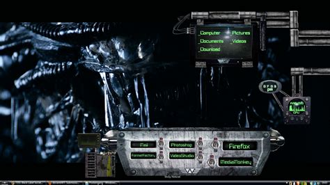 free rainmeter themes download for windows 7 alien dark windows7 rainmeter theme