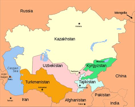 russia and asia map quiz 755px central asia political map 2000 svg 171 russia