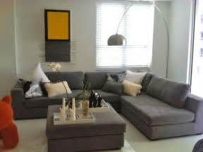 Modern living room with grey sectional home improvement home decor