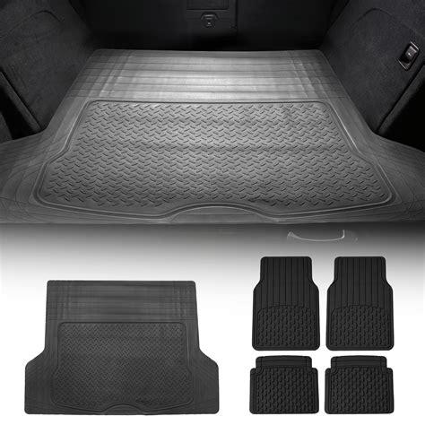 premium rubber mats combo black floor mats black cargo